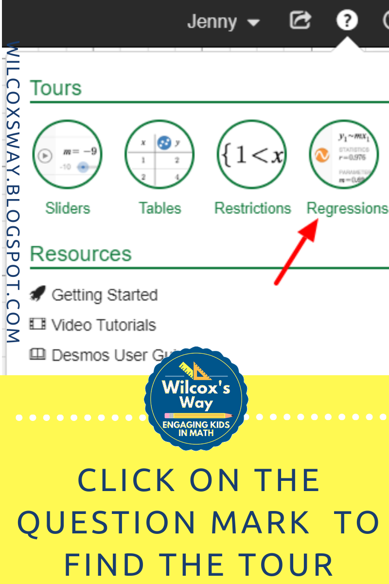 how to set a domain on desmos