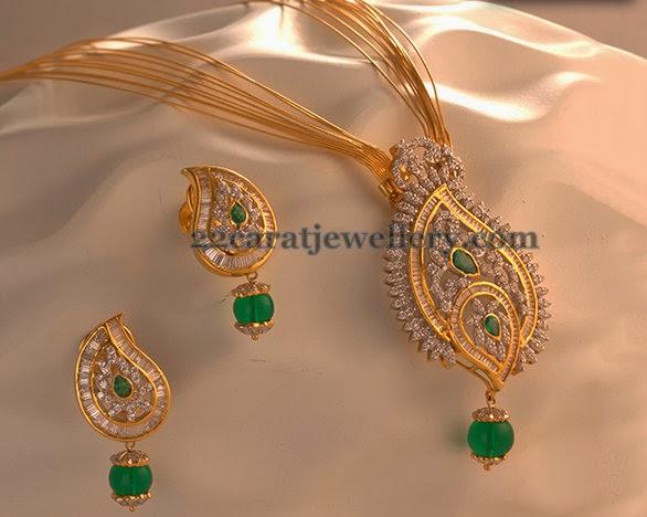 Gorgeous Pendant Earrings by Kalyan - Jewellery Designs