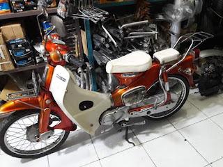 Dijual Honda C50 surat lengkap STNK BPKB