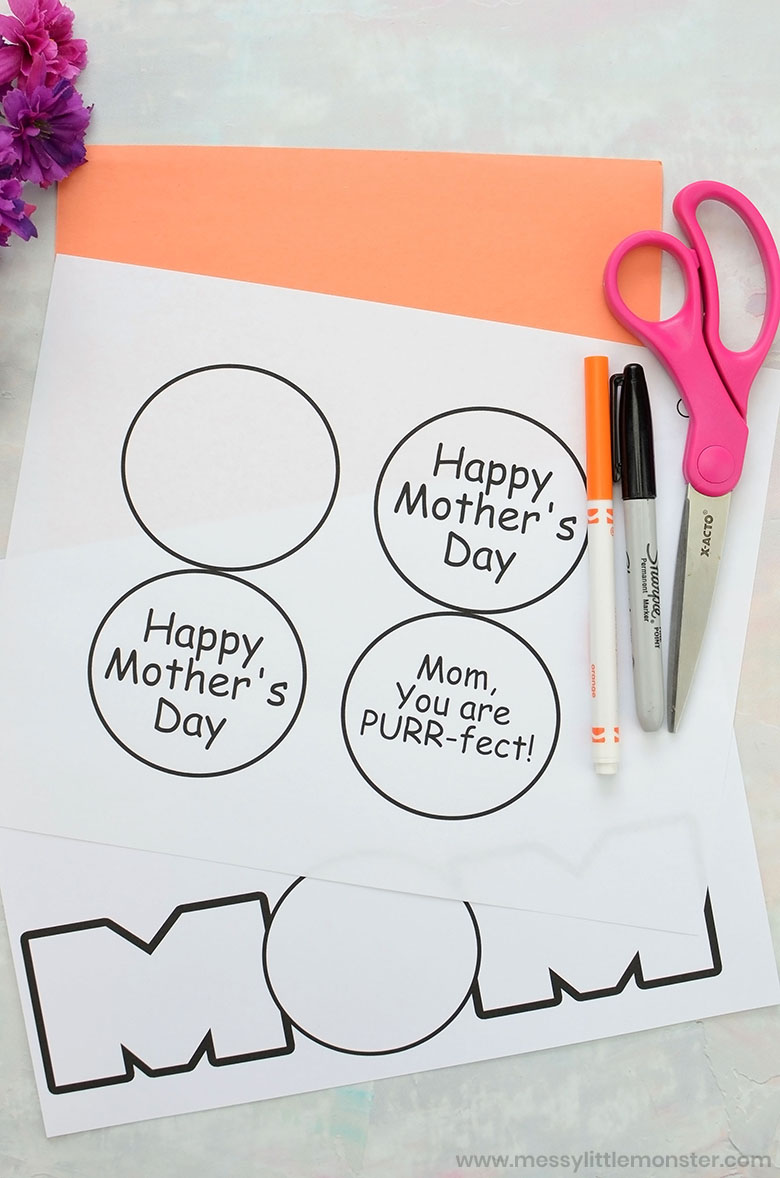 Printable Mother's Day Card Craft