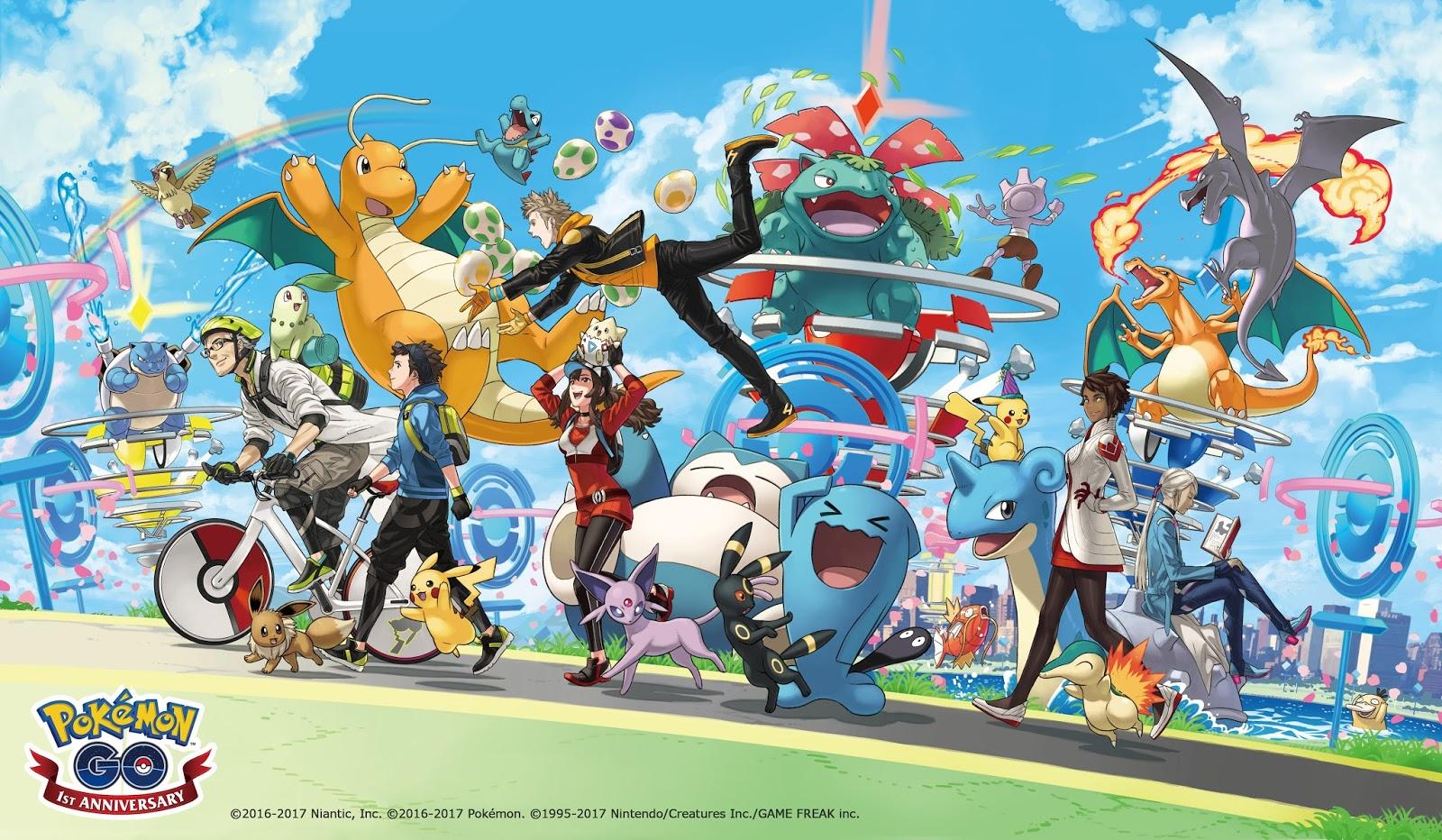 ポケモンgo日記(pokemon go diary in japan): pokémon go 1周年記念