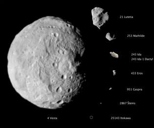 El asteroide mas grande