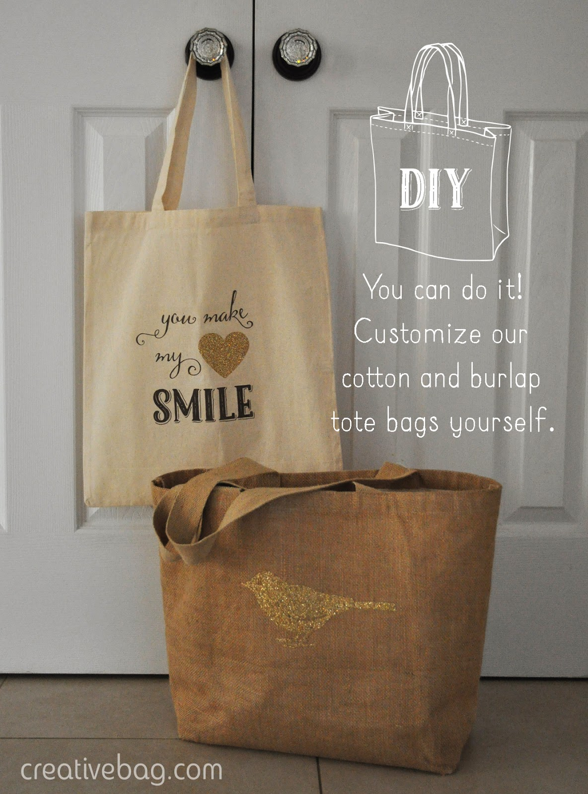 you can do it yourself - customize tote bags | Creative Bag