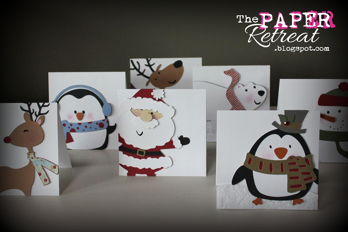 Penguin Christmas Cards Homemade.The Paper Retreat Christmas Cards For The Kids