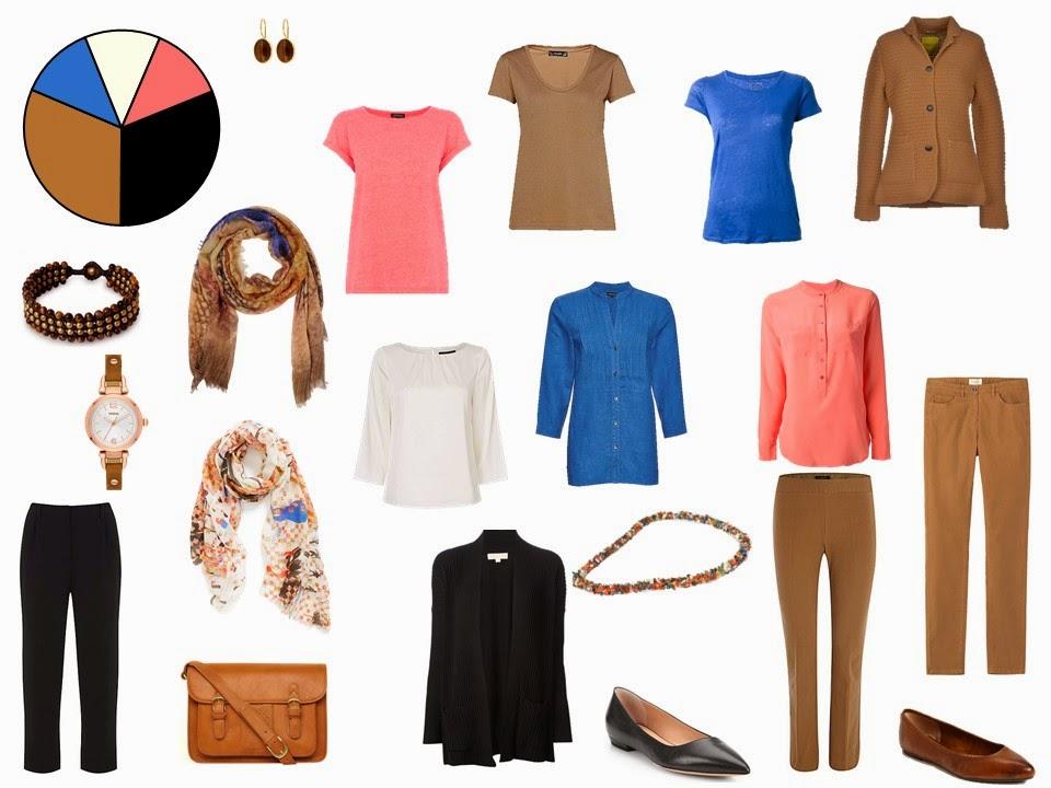 caramel and black 11 piece travel capsule wardrobe