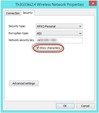 see wifi or internet password in windows 8 or windows 8.1