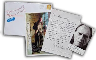 David Bradley Autograph Autograf Liścik