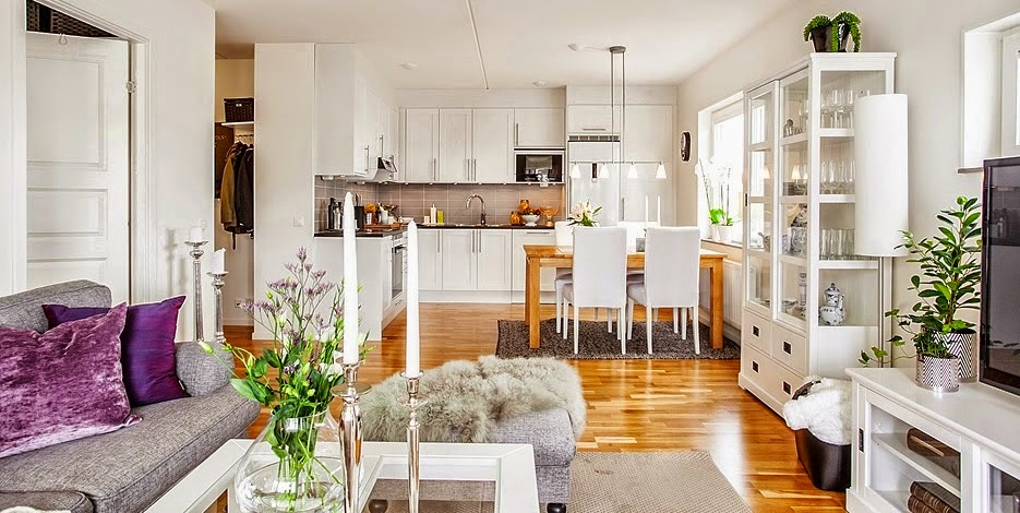 Ideas deco cocinas integradas en el sal n comedor tr s - Salon comedor cocina mismo espacio ...
