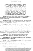 Florida Marijuana Decriminalization, Orlando Florida Cannabis Ordinance