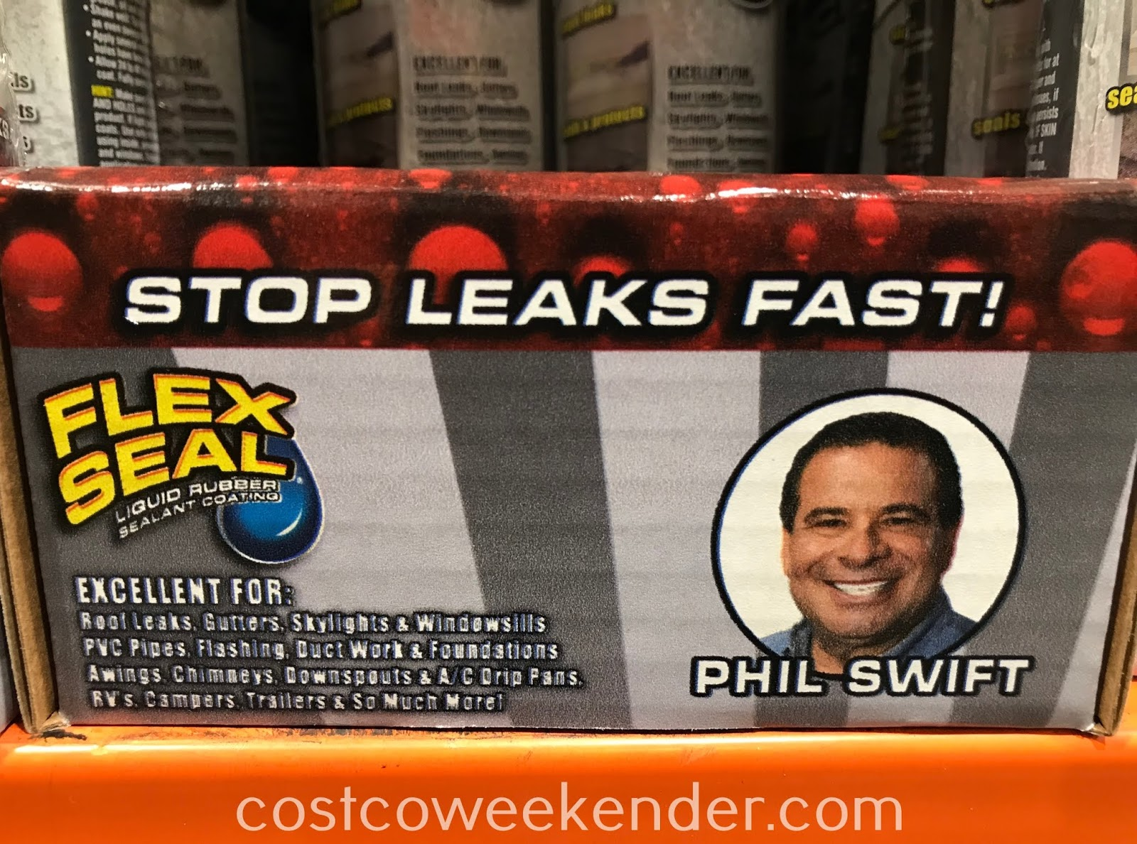 Costco 1234490 - Flex Seal Liquid Rubber Sealant Coating: great for use in and around the house