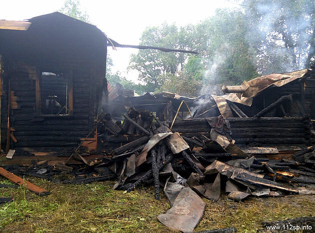 Пять пожарных расчётов тушили пожар на Вифанской