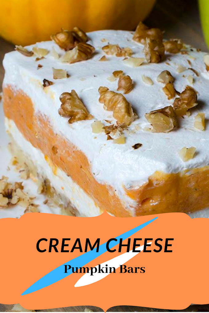Pumpkin Bars with Cream Cheese So Happy And Yummy