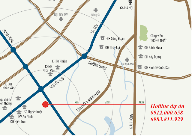 Vị trí dự án Housinco Nguyễn Xiển