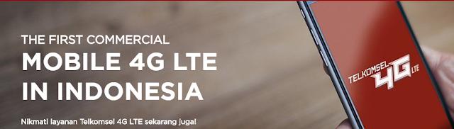 Daftar Paket Internet Telkomsel 4G LTE