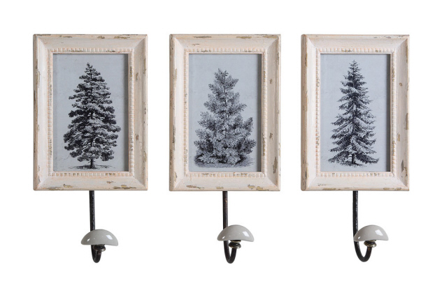 Farmhouse Musings French Country Picture Frame Coat Hook Set
