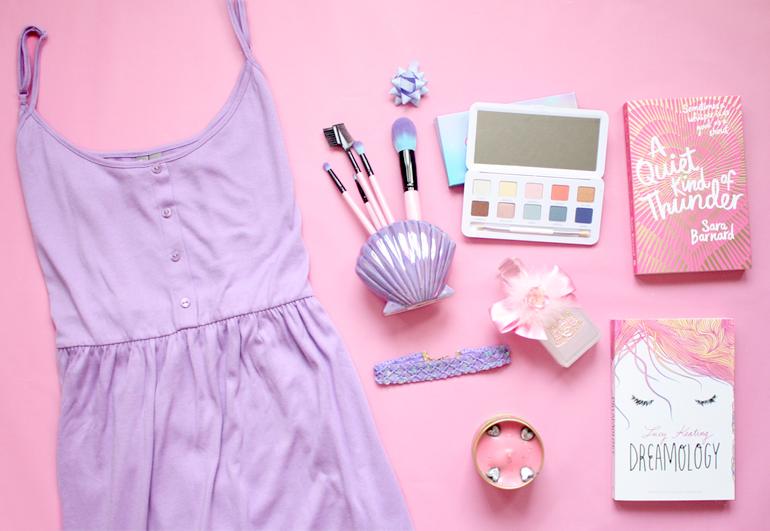 fashion beauty lifestyle flatlay