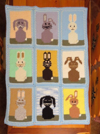 rabbit afghan