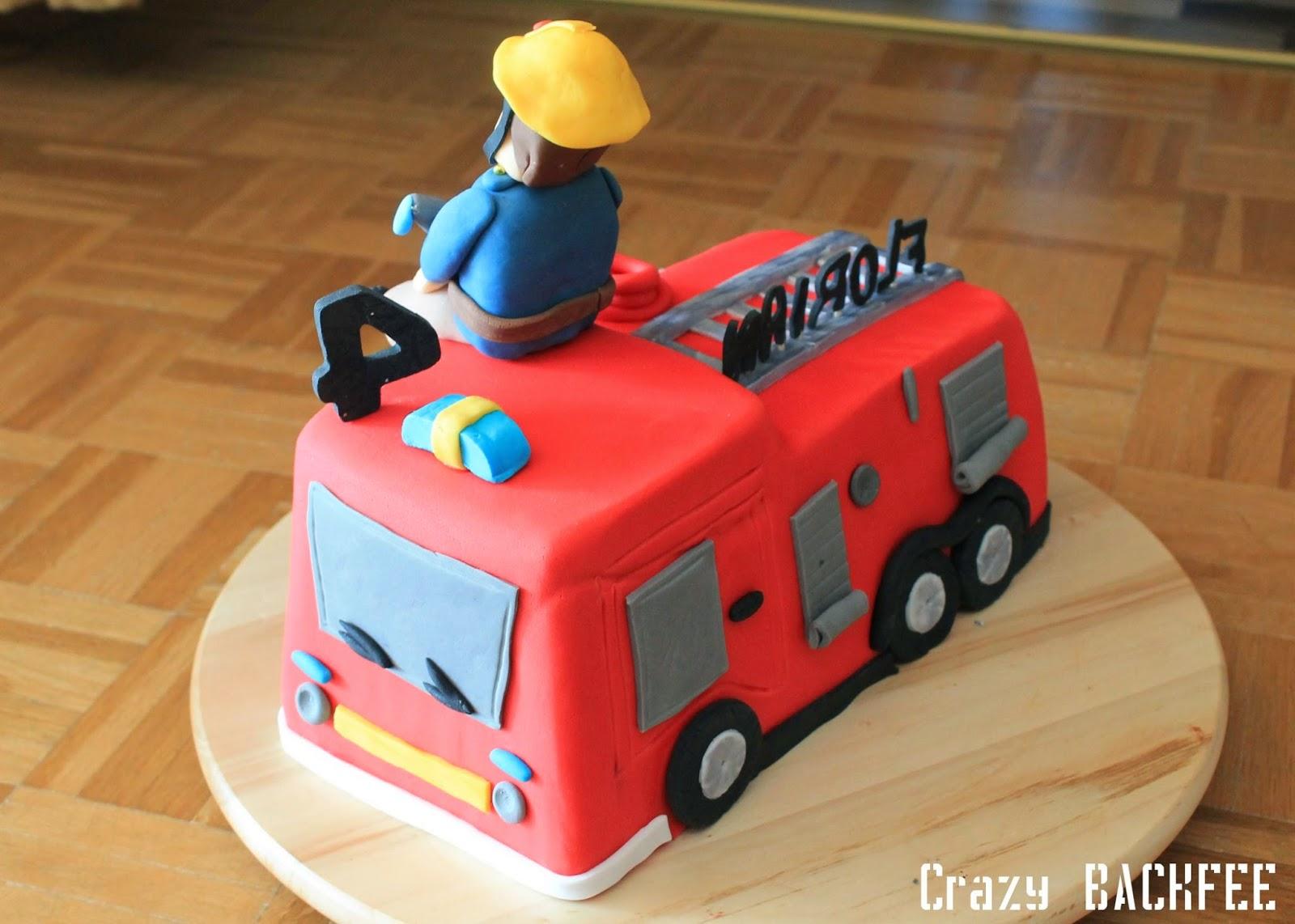 Crazy Backnoe Feuerwehrmann Sam Torte