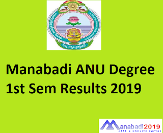 Manabadi ANU Degree 1st Sem Results 2019