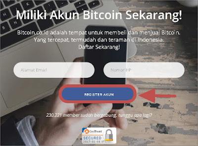 cara daftar bitcoin indonesia