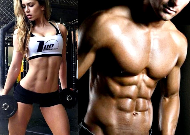 Hombre mujer gym músculos definidos fitness