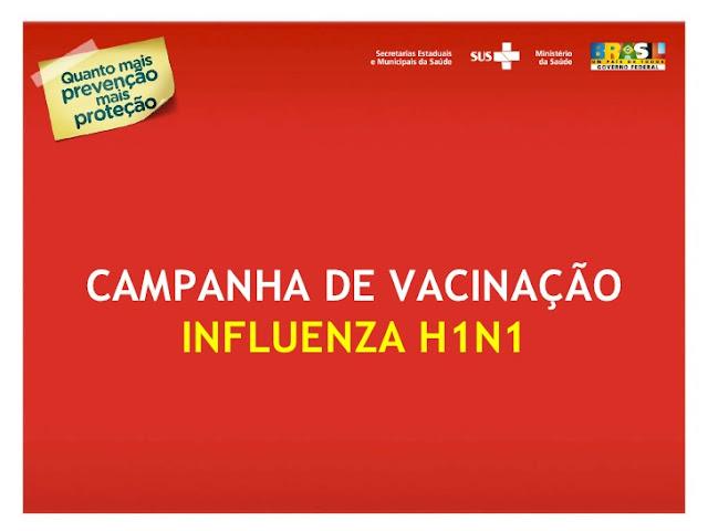 Campanha de vacinação contra H1N1 será retomada a partir de amanhã em Iguape
