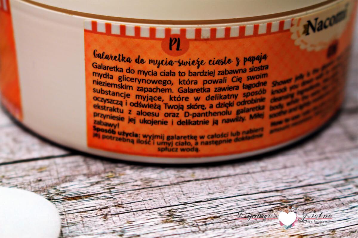 Nacomi, Galaretka do mycia ciała świeże ciasto z papają