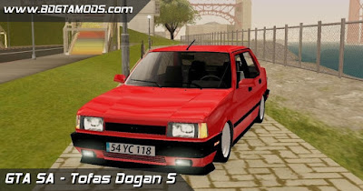 Tofas Dogan S para, For, GTA San Andreas, GTA SA