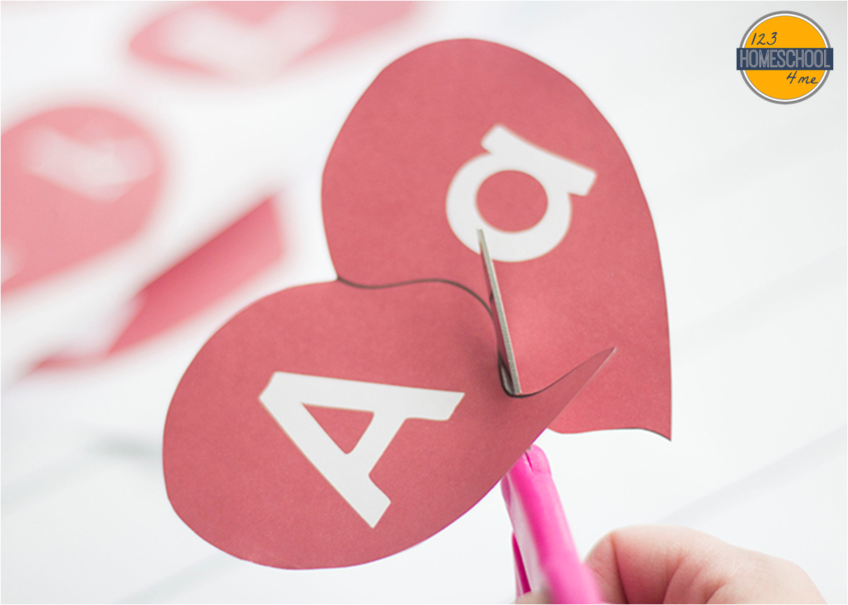 Valentine Preschool Worksheet Alphabet