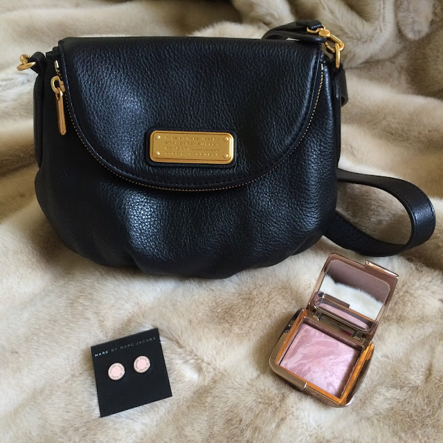 Marc Jacobs bag, earrings Hourglass blush | Almost Posh