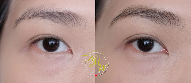 before and after photo of Bell Hypoallergenic Brow Modeller Gel Review by Nikki Tiu.