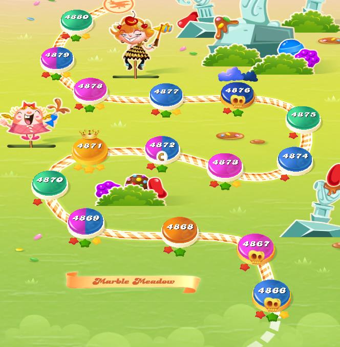 Candy Crush Saga level 4866-4880
