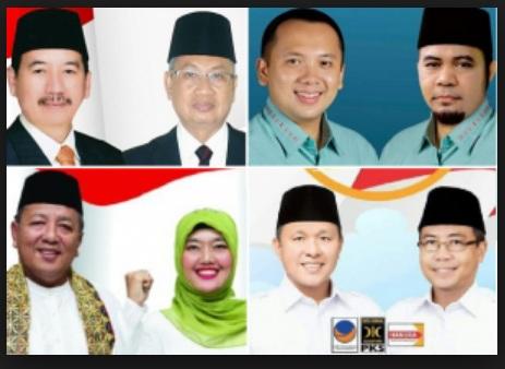 empat paslon gubernur lampung 2018