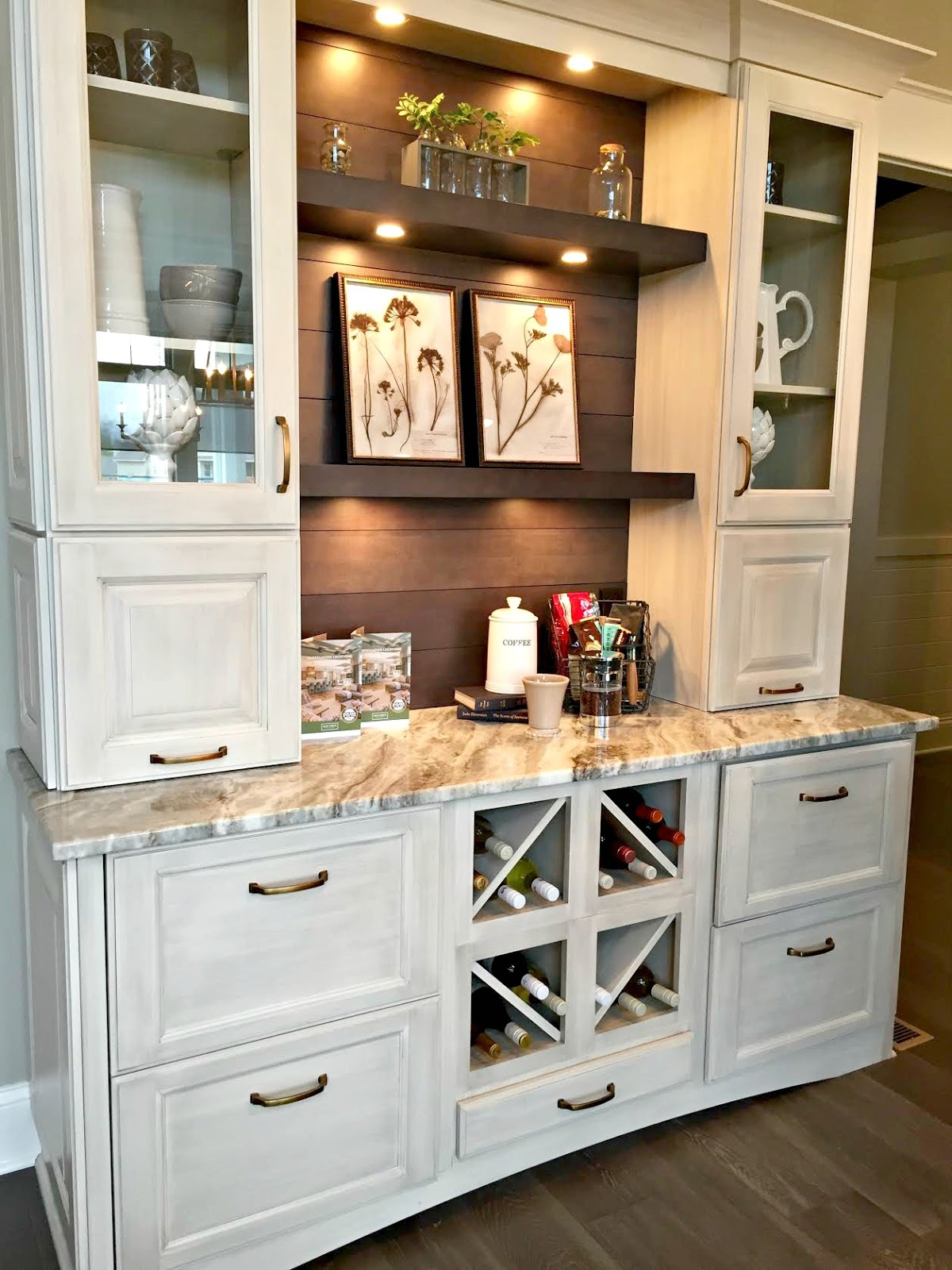 Coffee Bar In Kitchen Coastal Decor Let 39s Walk Through Some Gorgeous Houses From Thrifty