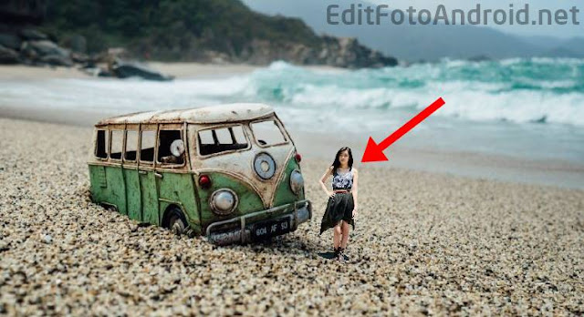 Cara Edit Foto Orang Mini Menjadi Manusia Kecil di Android