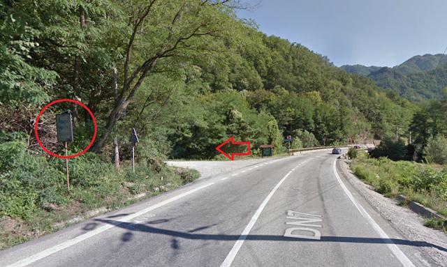 Drum de acces Cascada Lotrisor din Parcul Cozia