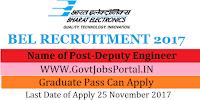 Bharat Electronics Limited Recruitment 2017– 24 Deputy Engineer