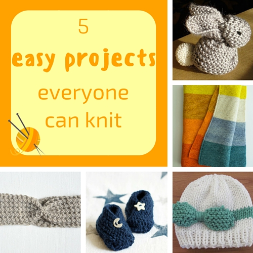 5 easy projects everyone can knit