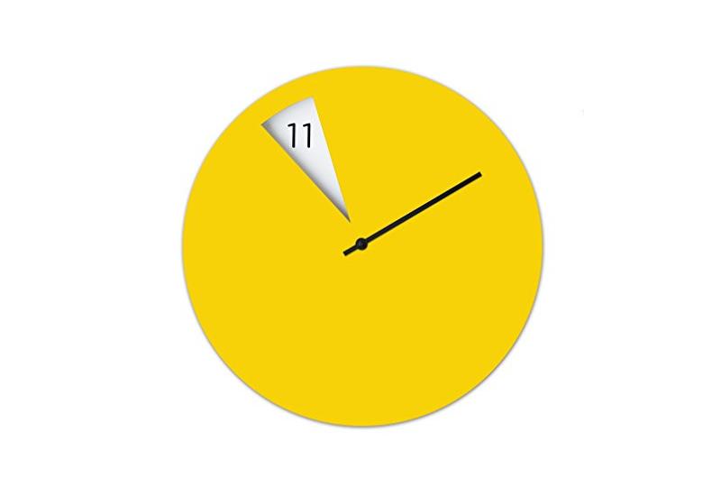 Orologio da parete giallo Sabrina Fossi Design