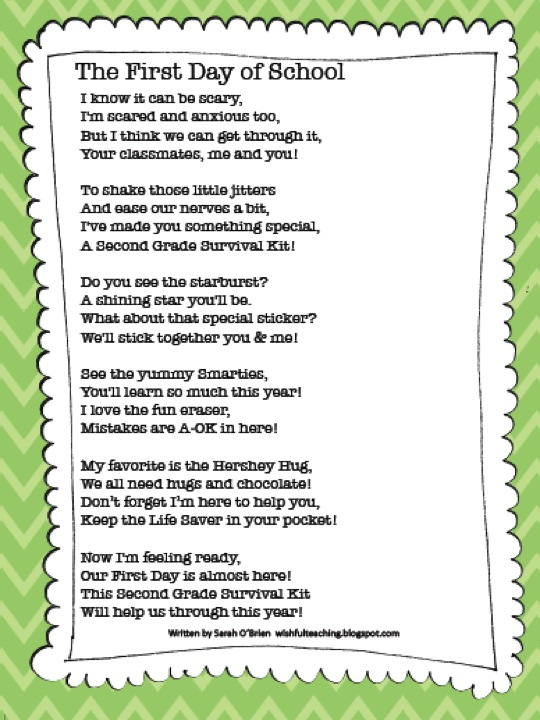 poem from student to kindergarten teacher | just b.CAUSE