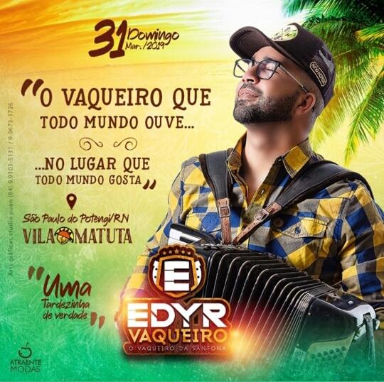Vem ai, Edyr o Vaqueiro da Sanfona na Vila Matuta em São Paulo do Potengi