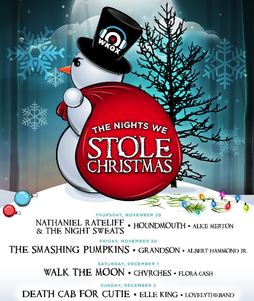 chicago alternative rock station wkqx 1011 fm announces an all star lineup for its popular annual christmas shows the nights we stole christmas - Chicago Christmas Station