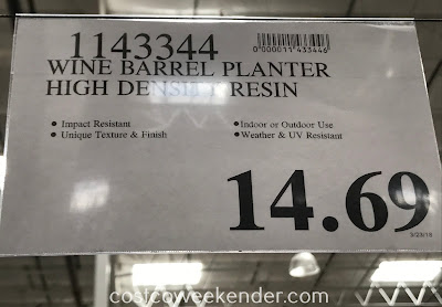 Deal for the Wine Barrel Planter at Costco