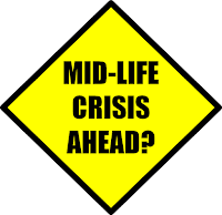 mid-life crisis road sign