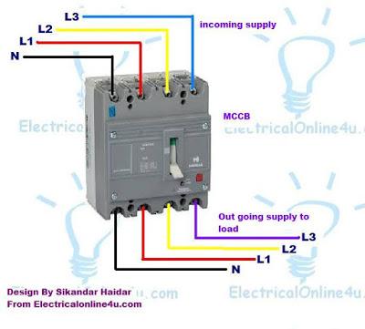 4 Pole Breaker Wiring Diagram Wiring Schematic Diagram