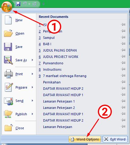 Cara Mengatur Waktu Autosave di MS Word 2007+ 12