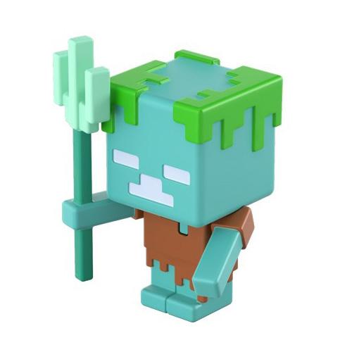 Minecraft Drowned Mini Figures | Minecraft Merch