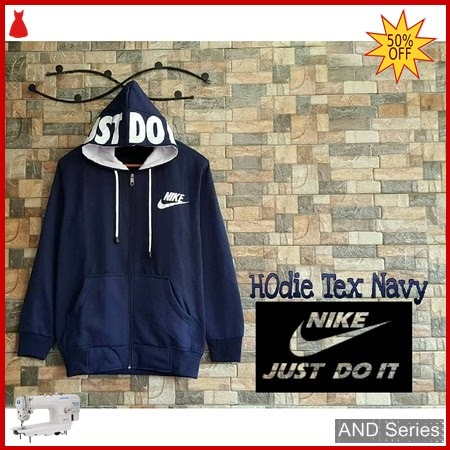 AND266 Jaket Wanita Nike Hoodie Text Biru BMGShop