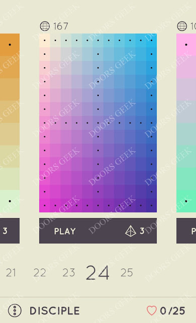 I Love Hue Disciple Level 24 Solution, Cheats, Walkthrough