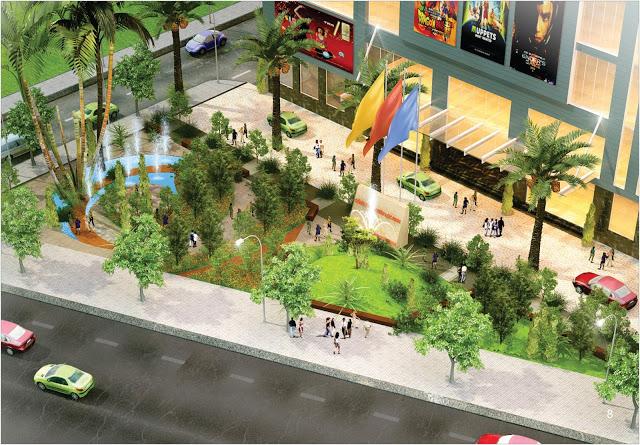 Khuôn viên cây xanh tại chung cư Mon Central